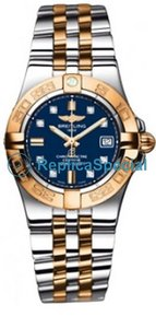Breitling Galactic C71340 Blue Dial Stainless Steel Bralecet Yellow Gold Case Watch