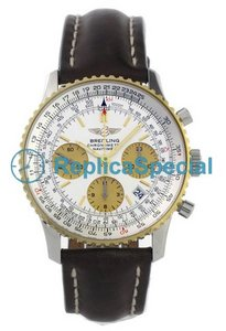Breitling Navitimer D23322 Mens White Dial Automatic Bracelet Watch