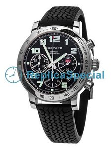 Chopard Mille Miglia 16/8920-3001 Automatic Black Dial Rubber Bralecet Watch