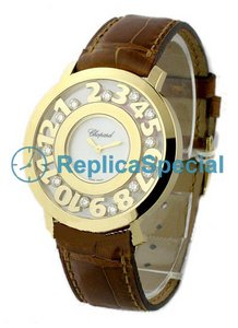 Chopard Happy 20/7233 Yellow Gold Bezel Womens Automatic Watch