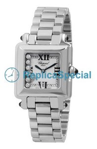 278349-3006 Chopard Happy Place cadran blanc automatique en acier inoxydable Montre Bralecet