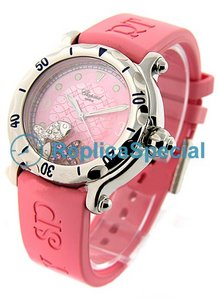 Chopard Happy 28/8347 / 8-403 Quartz Leder Bralecet Mens rosa Zifferblatt