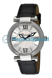 Chopard Imperiale 388532-3001 Leather Bralecet White Dial Stainless Steel Bezel Mens Watch