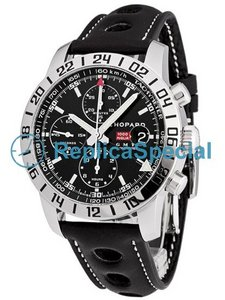 Chopard Mille Miglia GMT16-8992 Crocodile Skin Bralecet Black Dial Automatic Watch