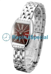Franck Muller Cintree Curvex 2251QZ Stainless Steel Bralecet Womens Red quadrante dell'orologio