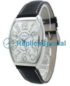 Franck Muller Casablanca 5850CASA armbånd Leather Bralecet White Dial Watch