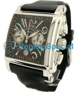 Franck Muller Casablanca FR - 0532P Black Dial Automatisk Mens Stainless Steel Case Watch