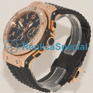 Hublot Big Bang 301.PX.130.RX.094 Automatisk Rubber Bralecet Svart arabisk Dial Watch