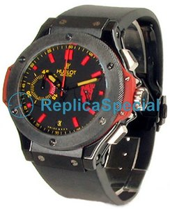 Hublot Big Bang Red Devil Bang 318.CM.1190.RX.MAN08 Polygon Mens Red / Black Resin Uhren