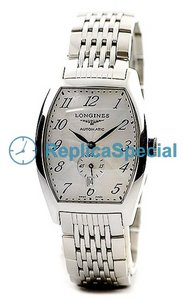 Longines L2.642.4.73.6 Tonneau Silver Arabia Dial Stainless Steel Asia Watch
