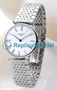 Longines Grande Classique L4.708.4.11.6 Round Automatic Stainless Steel Bezel Watch