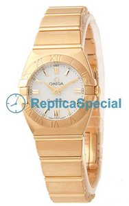 Omega Constellation 1181.70.00 Polygon 18k Yellow Gold Case Swiss Quartz Womens Watch