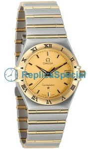 Omega Constellation 1212.10.00 Gold Dial Swiss Quartz Mens Watch
