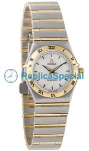Omega Constellation Ladies 1272.70.00 Vit Mother -of - pearl Dial Round Swiss Quartz Watch