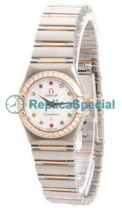 Omega Constellation Ladies 1360.79.00 Quartz Womens White Mother-of-Pearl Dial Watch