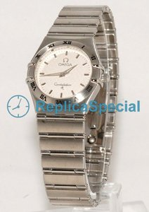 Omega Constellation Ladies 1572.30 Polygon Stainless Steel Bralecet Womens Watch