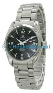 Omega Omegamatic 2504.52.00 Stainless Steel Bezel Automatic Black Dial Round Watch