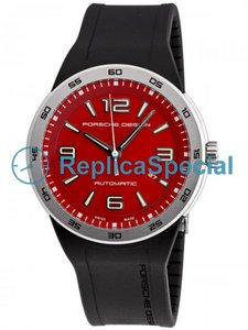 Porsche Design Flat Six P6310 631.041.841.167-3 Runde Mens Red Zifferblatt