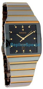 Rado Anatom R103841 Stainless Steel Bralecet Mens Black Dial Watch