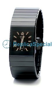 Rado Ceramica R21347192 quarzo Quadrante nero Mens Watch