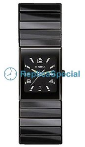 Rado Ceramica R21348192 Ceramic Case Stainless Steel Bralecet Black Dial Bracelet Watch