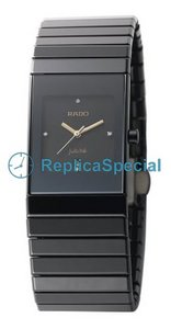 Rado Ceramica R21348712 Automatic Stainless Steel Bralecet Square Watch