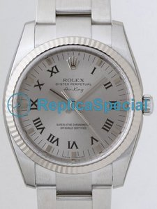 Rolex Airking 114.234 Silver Dial roestvrij staal Oyster Bralecet Automatic Watch