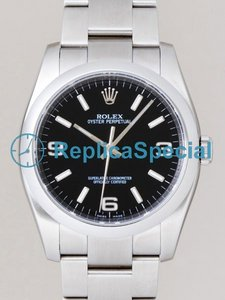 Rolex Oyster Date 116000 Stainless Steel and White Gold Case Automatic Mens Watch