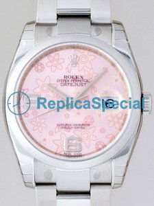 Rolex Date Mens 116200 Round Pink Floral Dial Unisex Watch