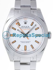 Rolex Milgauss 116400W Polished Bezel Stainless Steel Mens Watch
