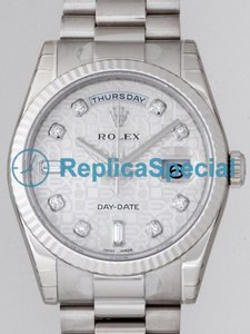 Rolex President Midsize 118239A Mens Grey Dial Automatic Stainless Steel Bezel Watch