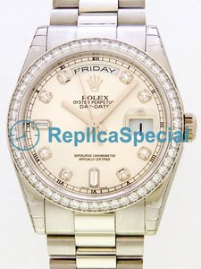 Rolex President Midsize 118.346 Automatisk Mens Stainless Steel Case Watch
