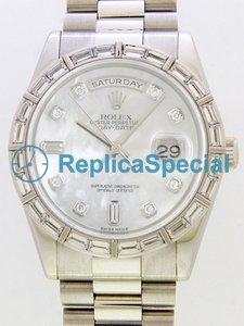 Rolex President Midsize 118366NCA Automatic Silver Dial Stainless Steel Watch zaak