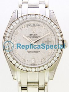 Rolex Masterpiece 18946 Ruostumaton teräs Bralecet Stainless Steel Asia Mens Grey Dial Watch