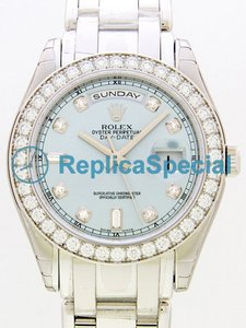 Rolex Masterpiece 18946 rannekorun Mens Stainless Steel Bralecet Watch