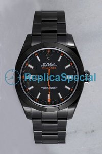 Rolex Milgauss 116400 Mens Round Stainless Steel Case Automatic Watch