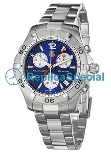 Tag Heuer Aquaracer CAF1112.BA0803 Stainless Steel Case schweiziska kvarts Round Watch