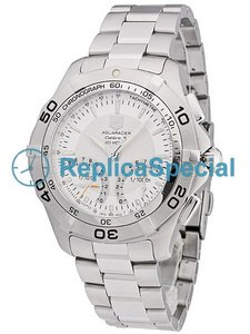 Tag Heuer Aquaracer CAF7011.BA0815 Stainless Steel Case Silver Dial Oval Watch