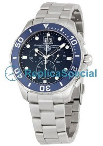 Tag Heuer Aquaracer CAN1011BA0821 Blue Dial Mens Round Automatisk Klocka