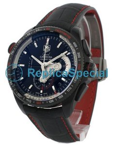 Tag Heuer Carrera CAV5185.FC6237 Titanium Case Leather Bralecet Round Watch