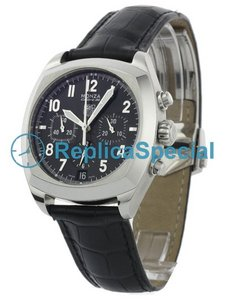 Tag Heuer clássico Monza CR5110.FC6175 Oval Black Leather Bralecet Black Dial Assista
