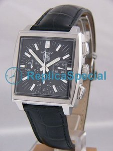 Tag Heuer Monaco CW2111.FC6177 Square Crocodile Skin Bralecet Stainless Steel Case Watch