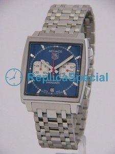 Tag Heuer Monaco CW2113.BA0780 Square RST Bralecet Blue Dial Mens Watch