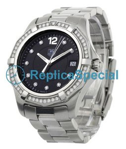 Tag Heuer Aquaracer WAF111D.BA0810 Stainless Steel Bezel Black Dial Round Watch
