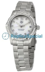 Tag Heuer Aquaracer WAF1313.BA0819 Silver Dial Womens Round Stainless Steel Bralecet Watch