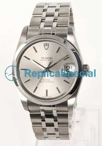Tudor Glamour Date-Day Lady TD74000SL White Dial Stainless Steel Bralecet Mens Watch