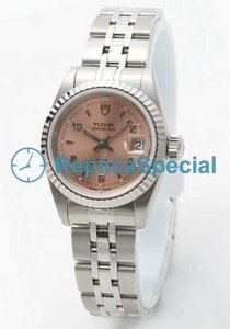 Tudor Glamour Date-Day Lady TD92414PKA Mens Automatic Stainless Steel Bezel Watch