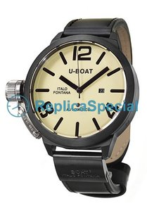 U - Boat Classico 53 - AB - 2 vasikannahka Bralecet Stainless Steel Asia Automatic Watch