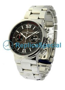 Ulysse Nardin Maxi Marine 353-66-7 / 355 Stainless Steel Bralecet Automatic Mens Watch