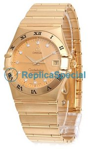 Omega Constellation 1102.15.00 Ronde Automatic Yellow Gold Bralecet Mens Watch